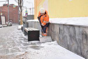 Дворовые территории расчистили от снега в районе. Фото: Пелагия Замятина, «Вечерняя Москва»