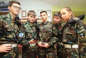 Ребята из школы №1259 подготовятся к конкурсу. Фото: Наталия Нечаева, «Вечерняя Москва»