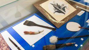 Выставка японской живописи в библиотеке №13 будет работать до конца недели. Фото: сайт мэра Москвы