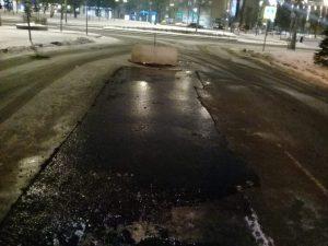 Три ямы отремонтировали в районе. Фото предоставили сотрудники учреждения«Жилищник»
